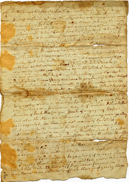 Letter from Daniel Smith to Arthur Campbell