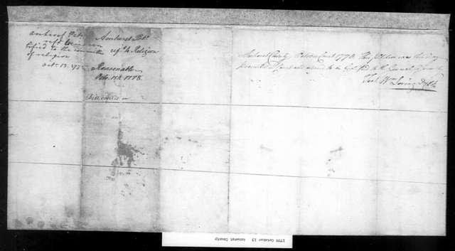 October 13, 1778, Amherst, Amherst Parish, for division of parish.