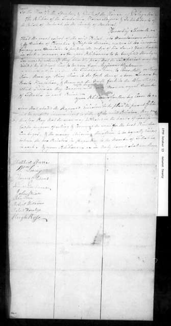 October 13, 1778, Amherst, Amherst Parish, for division of parish.