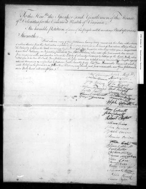 October 29, 1778, Miscellaneous, Seceding Presbyterians, that kissing the Bible preceding testimony in court is against their beliefs.