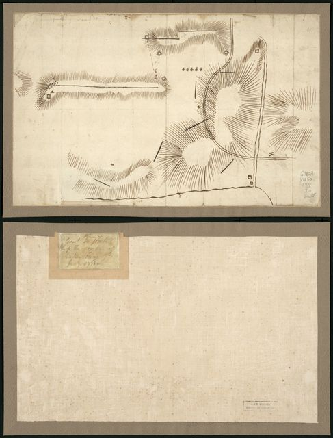 Plan of Genl Du Portail. Plan of the position of Valley Forge after Jany. 1778.