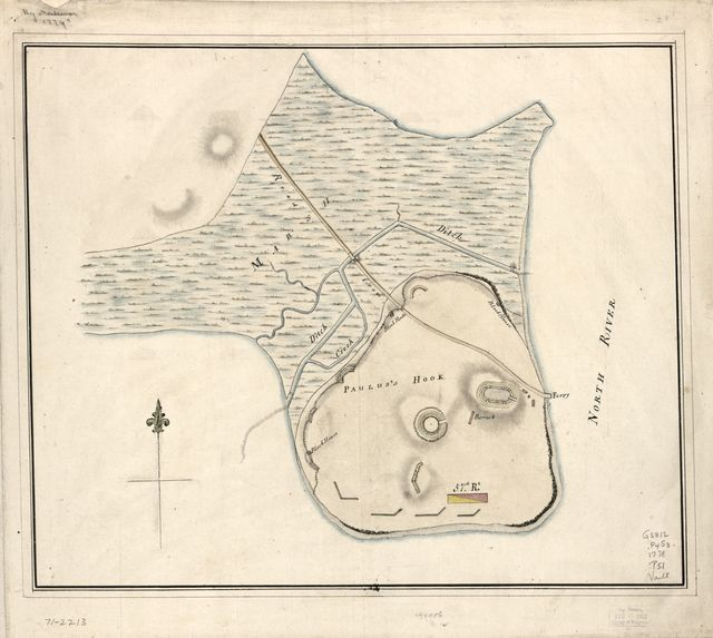 [Plan of Paulus's Hook and fortifications.
