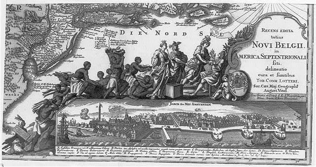 Recens edita totius Novi Belgii, in America Septentrionali ... Neu Jorck sive Neu Amsterdam / / Tob. Conr. Lotteri.