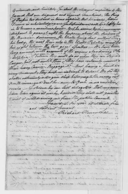 Richard Henry Lee to Thomas Jefferson, June 16, 1778, Bills of Pacification; Arrival of British Commissioners, Lord Carlisle, William Eden, and Governor Johnston