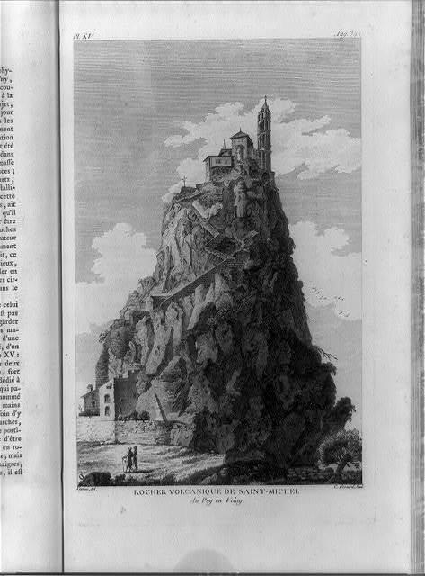 Rocher volcanique de Saint-Michel au Puy en Velay / Veyrene, del. ; C. Fessard, scul.