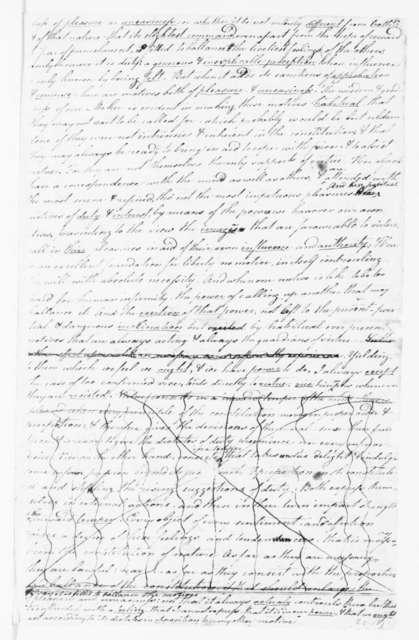 Samuel Smith to James Madison. 1778.