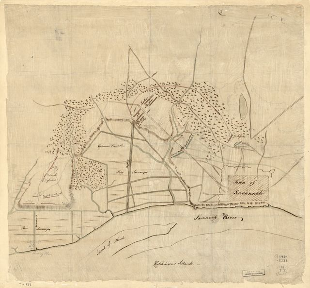 [Taking of Savannah in Dec. 1778.