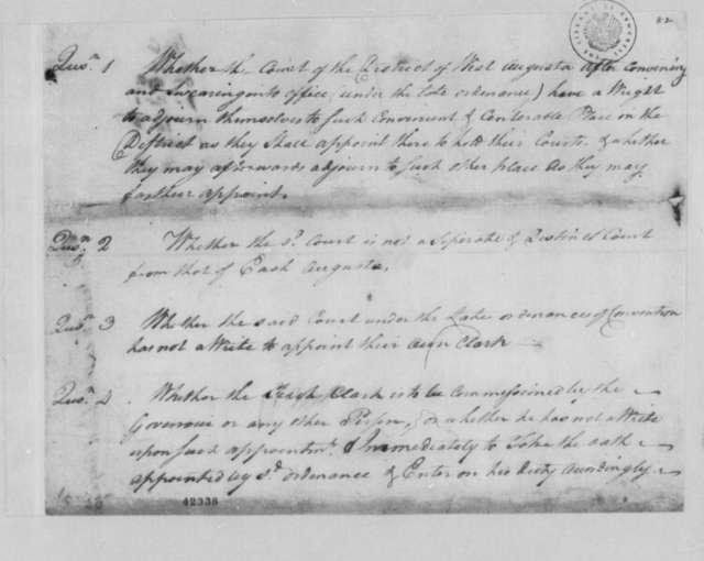 Thomas Jefferson, 1778, Pentecost Law Cases