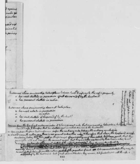Thomas Jefferson, December 6, 1778, Opinion on Traverse Law Case