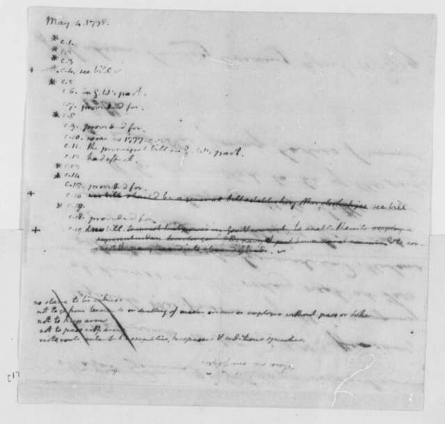 Thomas Jefferson, May 4, 1778, Notes on Virginia Committee on Laws