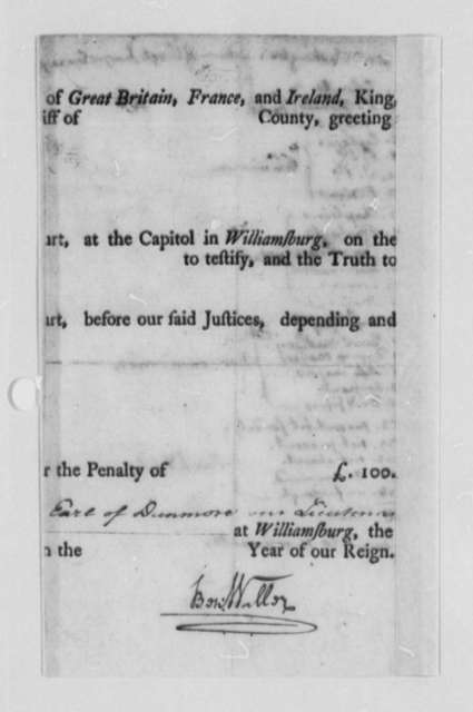 Thomas Jefferson, September 30, 1778, List of Virginia Troops in Continental Army