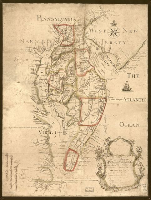 To the American Philosophical Society, this map of the peninsula between Delaware & Chesopeak bays, with the said bays and shores adjacent drawn from the most accurate surveys is [humbly] inscribed by John Churchman.