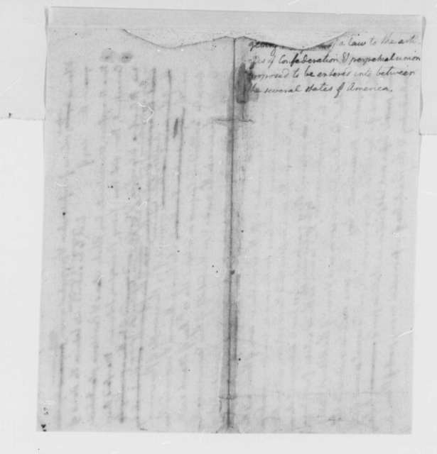 Virginia General Assembly, 1778, Draft of Resolution on Courts; Articles of Confederation