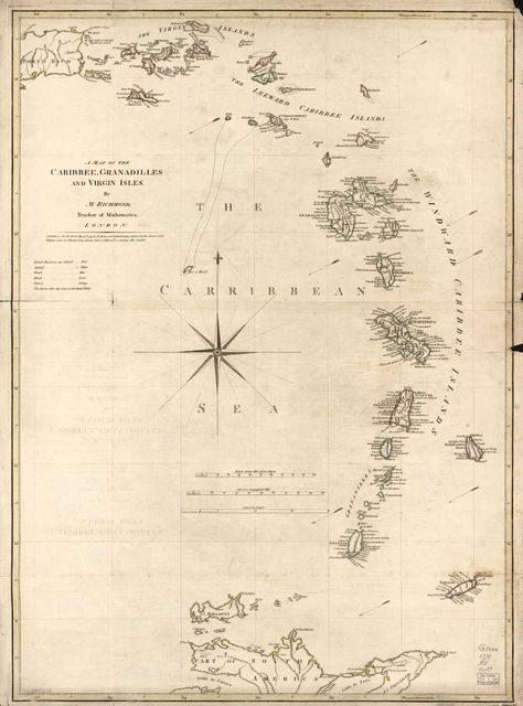 A map of the Caribbee, Granadilles and Virgin Isles,