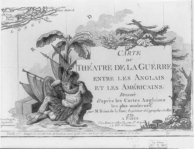 Carte du théatre de la guerre entre les anglais et les Américains / dressée ... par M. Brion de la Tour.