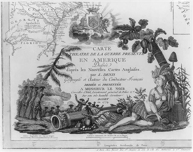 Carte du theatre de la guerre presente en Amerique / dressée ... par L. Denis.