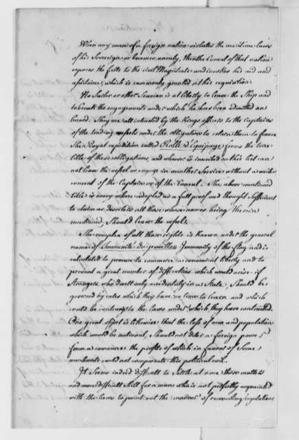 Conrad Alexandre Gerard de Rayneval, July 31, 1779, Observations on Appointing a French Consul to Virginia