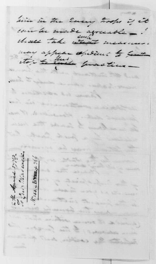 George Washington Papers, Series 4, General Correspondence: George Washington to William Maxwell, April 12, 1779
