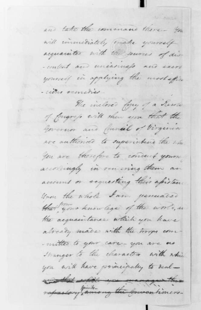 George Washington Papers, Series 4, General Correspondence: George Washington to Theodorick Bland, February 28, 1779