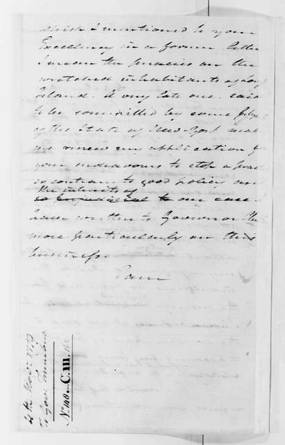 George Washington Papers, Series 4, General Correspondence: George Washington to Jonathan Trumbull, November 4, 1779