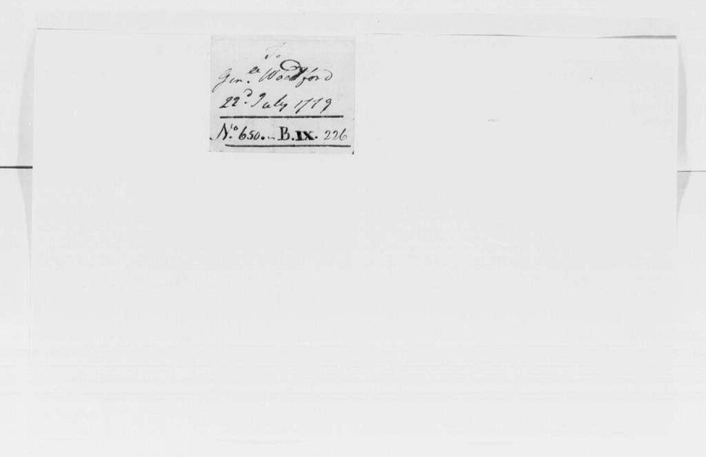 George Washington Papers, Series 4, General Correspondence: George Washington to William Woodford, July 22, 1779