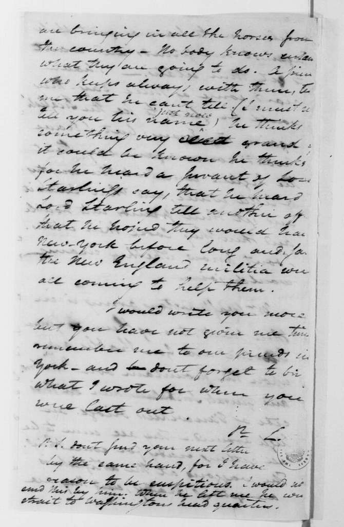 George Washington Papers, Series 4, General Correspondence: George Washington, May 6, 1779, Fictitious Questions and Answers for the Use of a Spy
