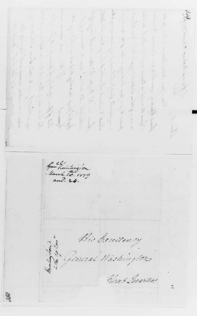 George Washington Papers, Series 4, General Correspondence: Jedidiah Huntington to George Washington, March 10, 1779, with Report on Clothing in Huntington's Corps