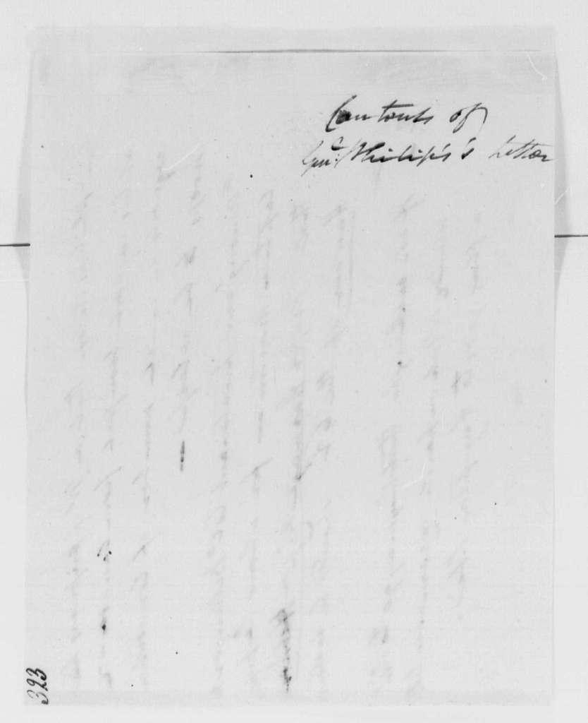 George Washington Papers, Series 4, General Correspondence: Robert H. Harrison and William Philips, September 1, 1779, Prisoner Exchange