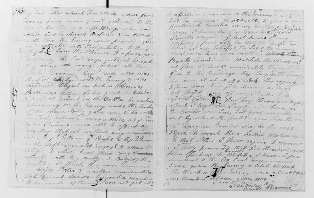 George Washington Papers, Series 4, General Correspondence: Samuel H. Parsons to George Washington, July 11, 1779