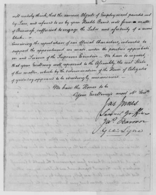 James Innes, et al to Thomas Jefferson, November 2, 1779
