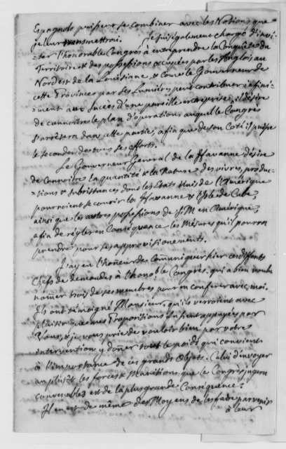 Juan de Miralles to La Luzerne, November 25, 1779