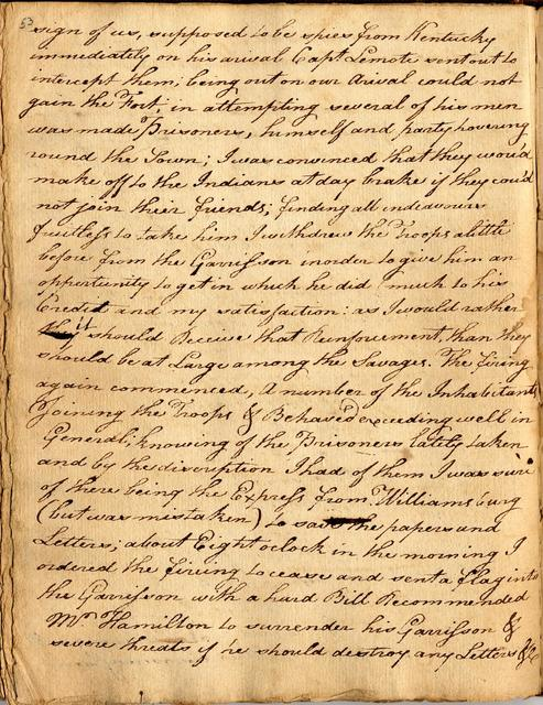 Letter from George Rogers Clark to George Mason