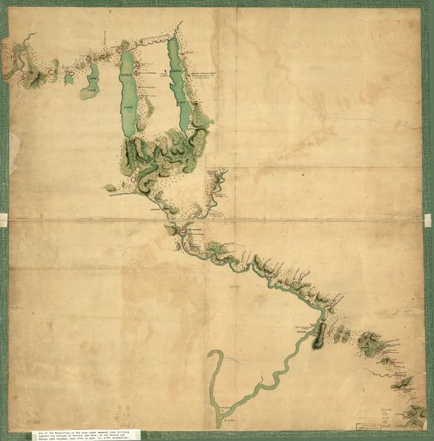 Map of Gen. Sullivan's march from Easton to the Senaca & Cayuga countries.