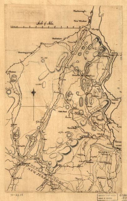 [Map of Orange and Rockland counties area of New York]