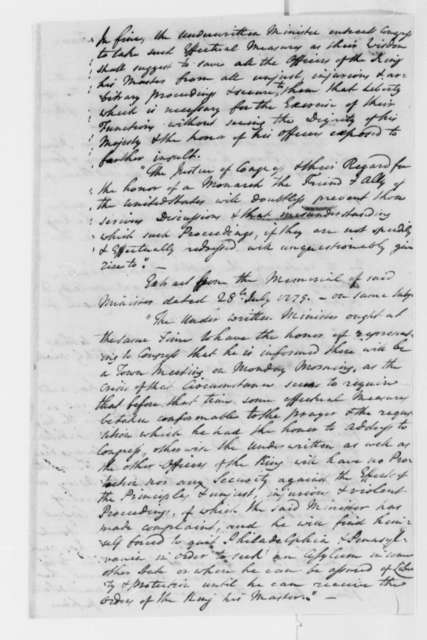 Meriwether Smith to Thomas Jefferson, July 30, 1779, with Abstract