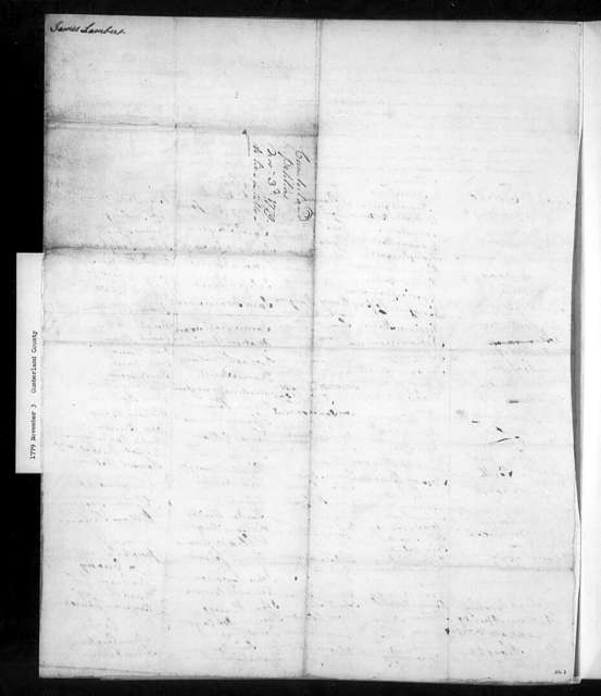 November 3, 1779, Cumberland, Littleton Parish, for Reverend Christopher McRae's retention of glebe lands and his remaining as minister; also objecting to tax on those who have not taken the oath of allegiance.
