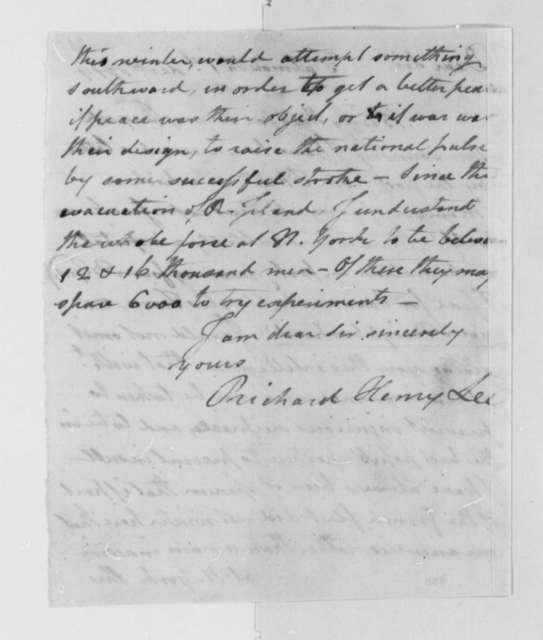 Richard Henry Lee to Thomas Jefferson, December 1, 1779