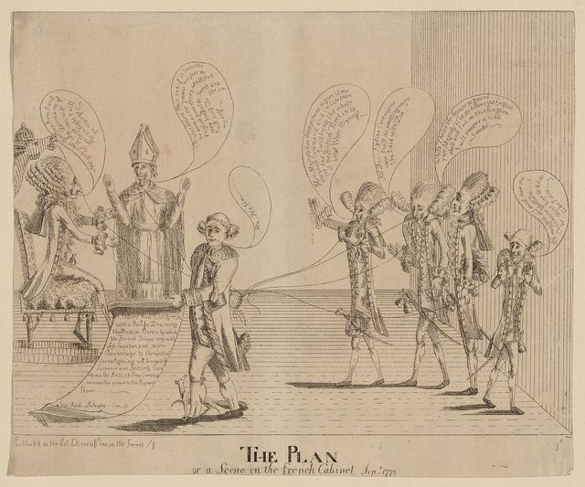 The plan, or a scene in the French cabinet, Sepr. 1779