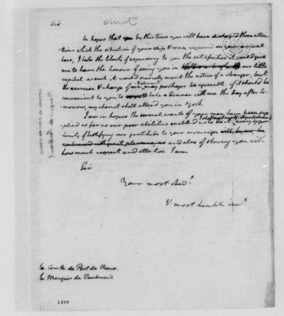 Thomas Jefferson to Count de Pont de Veaux and Louis Philippe de Rigaud, Marquis de Vaudreuil, 1779
