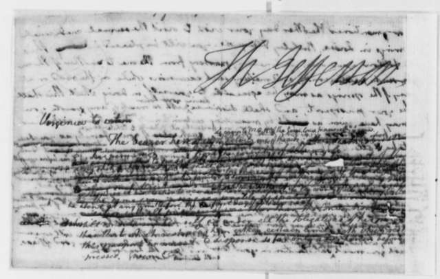 Thomas Jefferson to Julius Ludwig August Pelnitz, July 1779, Draft of Pass Allowing Travel with Friedrich Adolph, Baron von Riedesel