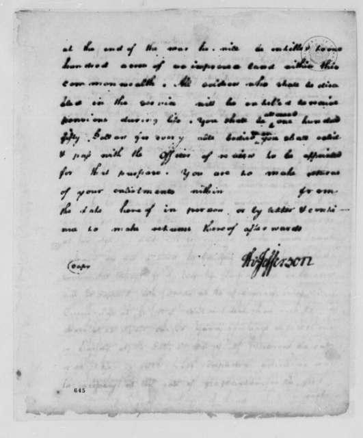 Thomas Jefferson to Virginia Board of War, November 23, 1779
