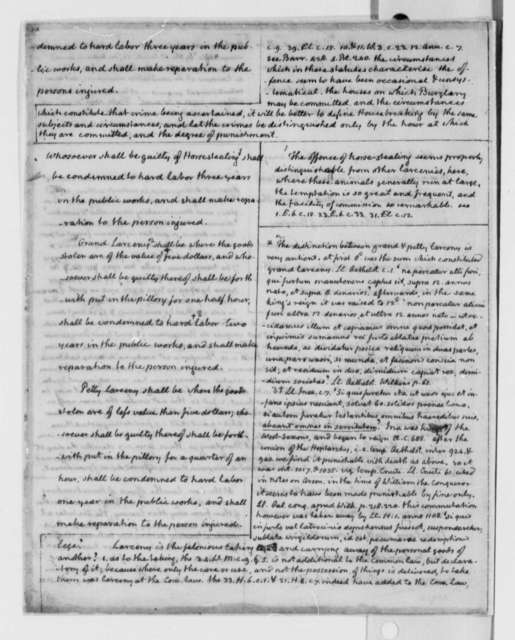 Virginia Committee on Laws, 1779, Bill on Capital Crimes