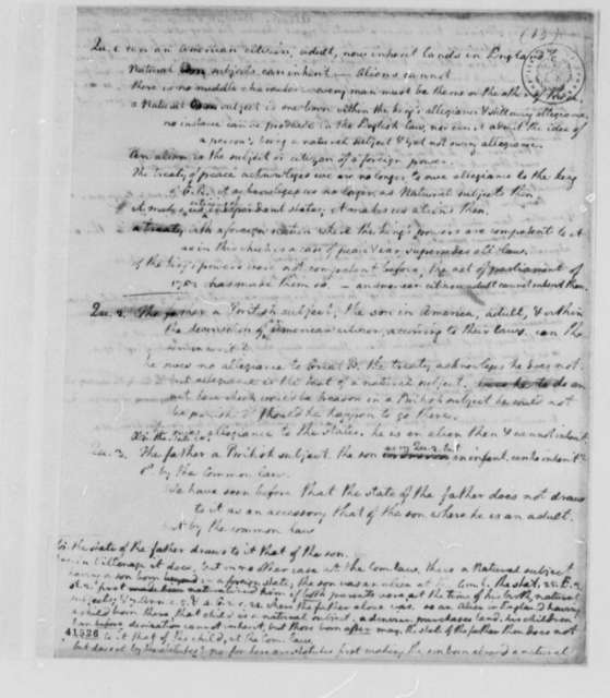 Virginia Committee on Laws, 1779, Notes on Aliens