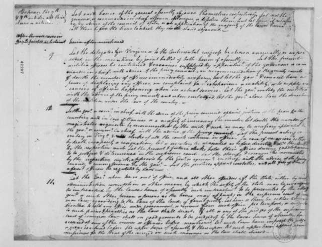 Virginia Committee on Laws, 1779, Notes on Articles 7-11