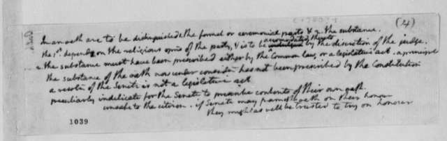Virginia Committee on Laws, 1779, Notes on Oaths