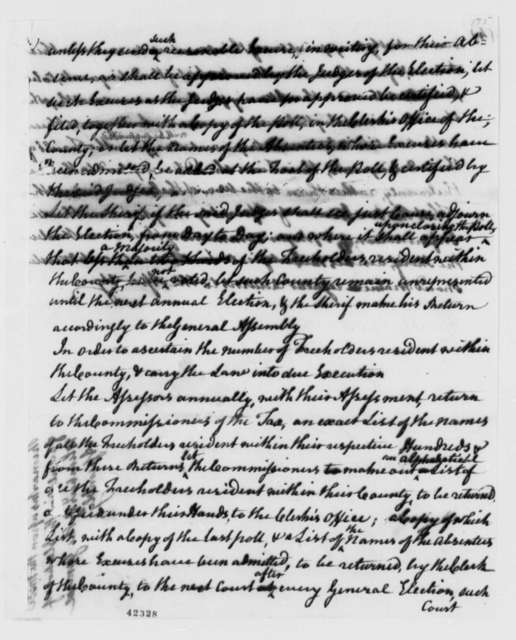 Virginia Committee on Laws, 1779, Remarks on Elections