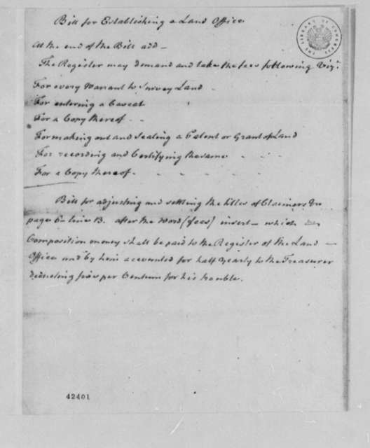 Virginia Committee on Laws, 1779, Suggested Revision for Land Office
