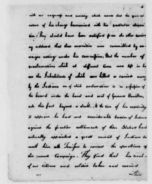 Virginia Council, June 18, 1779, Order Placing Henry Hamilton, Philip Dejean, and William LaMothe in Irons; Detroit Expedition; etc.