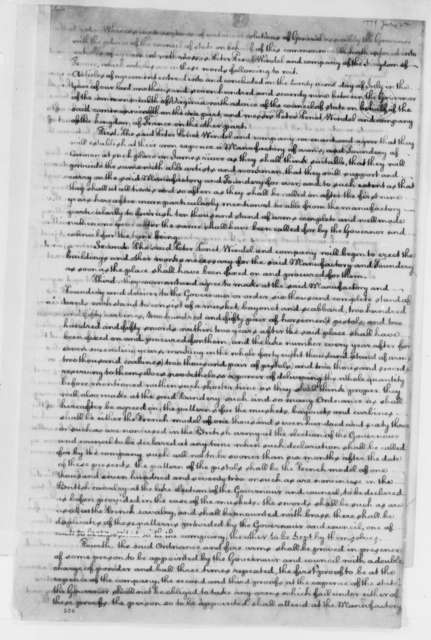 "Virginia General Assembly and Peter Penet, Windel, & Company, July 22, 1779, Bill for Building a ""Manufactory of Arms and Foundery of Cannon"" on the James River, etc."