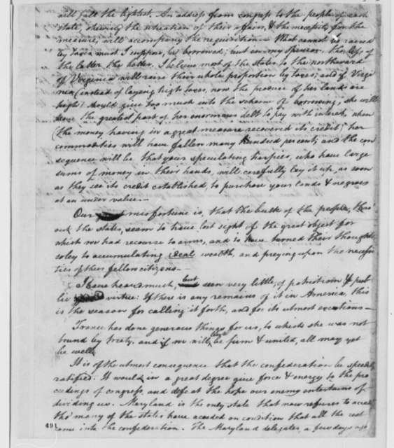 William Fleming to Thomas Jefferson, May 22, 1779, British Success at Portsmouth; Finances; Paper Money; Articles of Confederation; Detroit Expedition